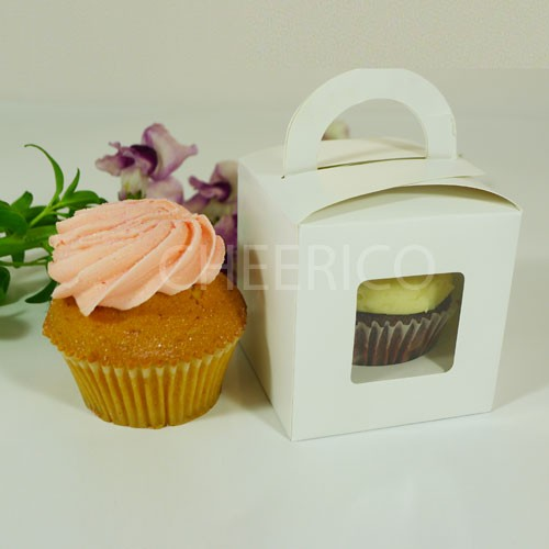 25 sets of  Cupcake Box with handle and 1 Cupcake Holder($1.15 each set)