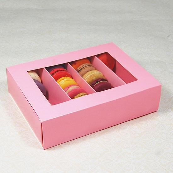24 Macaron Pink Window Boxes ($2.80/pc x 25 units)