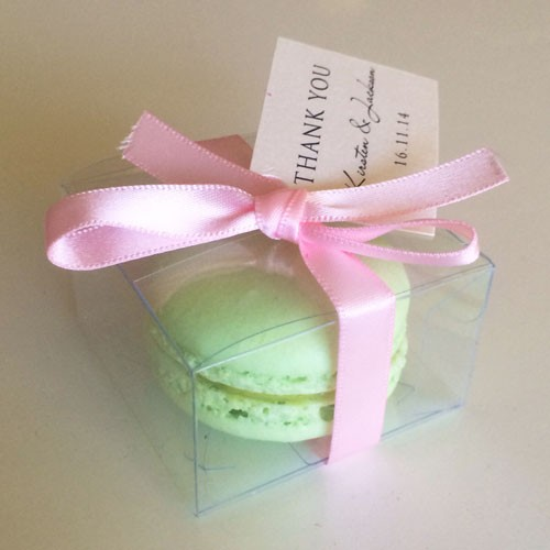 Clear Macaron Box for 1 Macaron($0.90/pc x 25 counts)