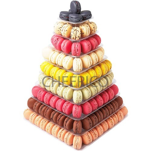 9 Tier Square Macaron Display Stand for French Macarons