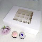 25 sets of Window Cupcake Box with 24 Medium Cupcake Holder($2.15 each set)