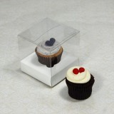 25 sets of Clear Mini Cupcake Box and 1 White Mini Cupcake Holder($1.10 each set)