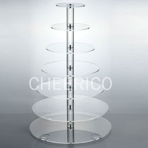7 Tier Maypole Acrylic Cupcake Stand Display