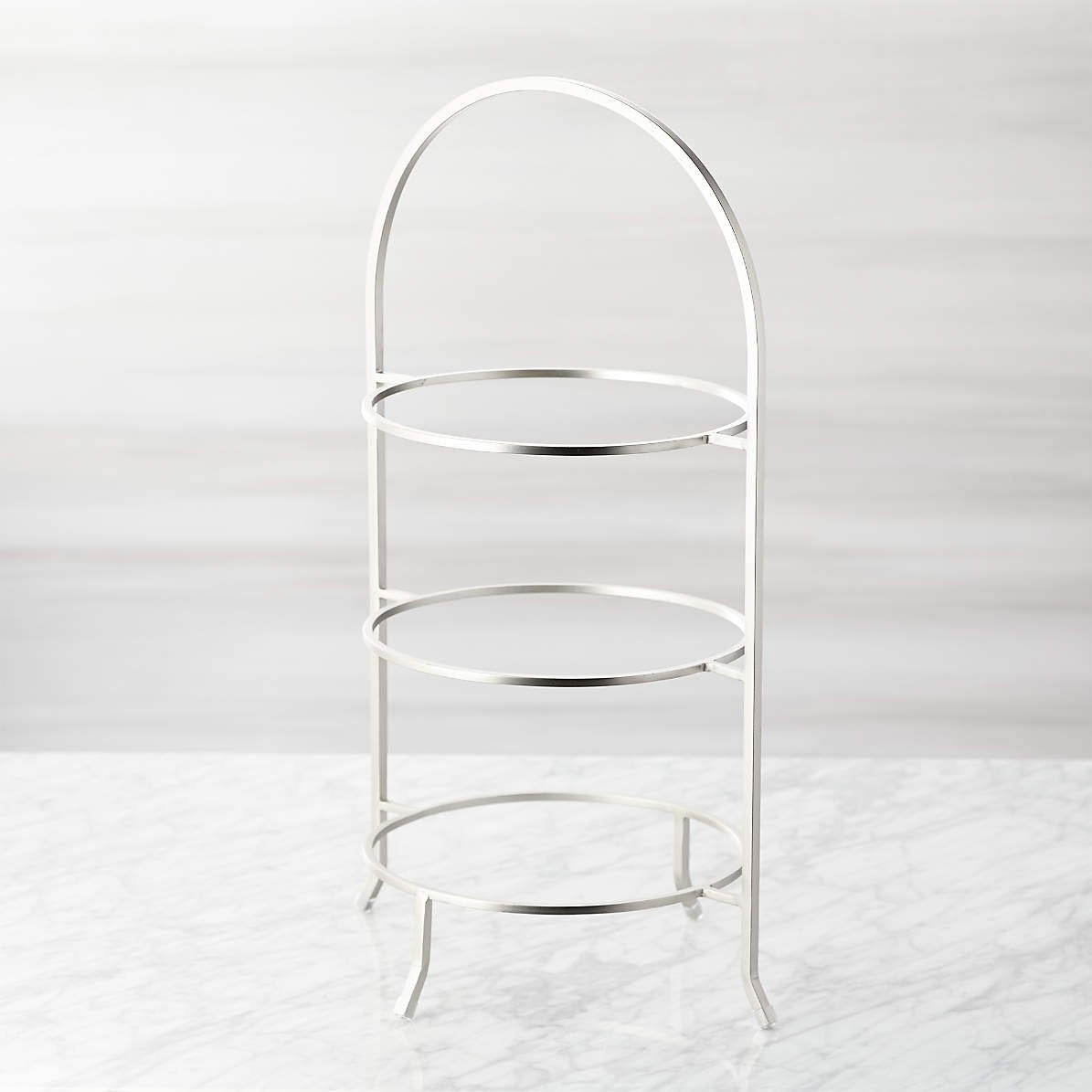 3 Tier High Tea Stainless Steel Stand