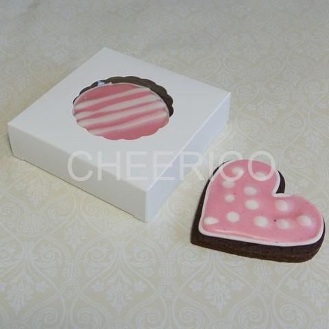 """White Cookie Boxes - 4 3/8"""" x 4 3/8"""" x 1"""" ($1.20pc x 25 units)"""