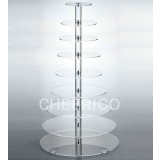 10  Tier Acrylic Round Maypole Cupcake Stand Tower Display
