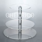 4 Tier Acrylic Round Maypole Cupcake Stand Tower Display