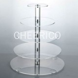 5 Tier Maypole Acrylic Cupcake Stand Tower Display