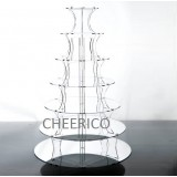7 Tier Step Mirrored Effect Cupcake Stand
