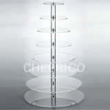 8 Tier Acrylic Round Maypole Cupcake Stand Tower Display